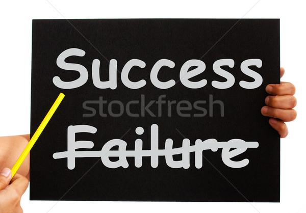 Successo bordo abbondanza non fallimento Foto d'archivio © stuartmiles