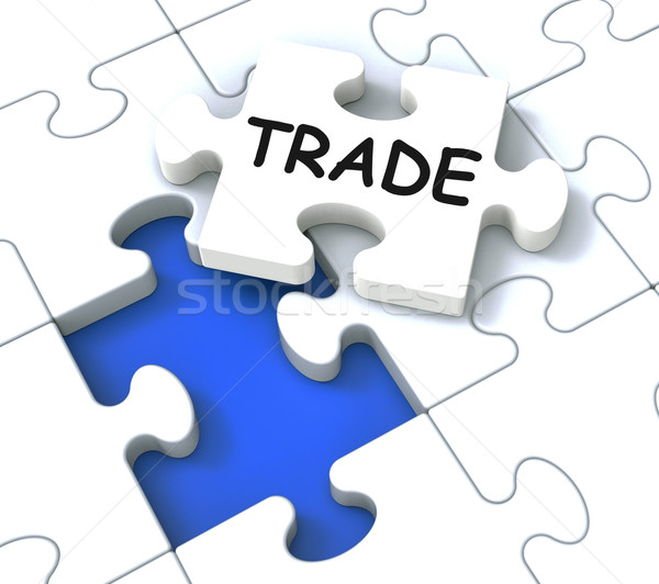 Trade Puzzle Shows Market And Commerce Stock photo © stuartmiles