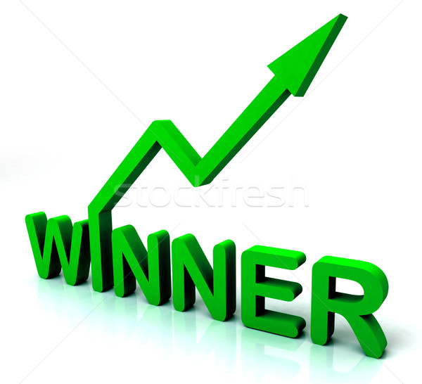 Green Winner Word Shows Successes And Victory Stock photo © stuartmiles