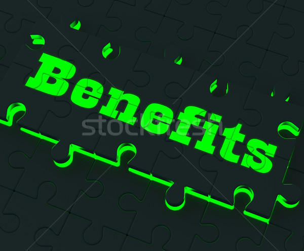 Benefits Puzzle Showing Monetary Compensation Stock photo © stuartmiles