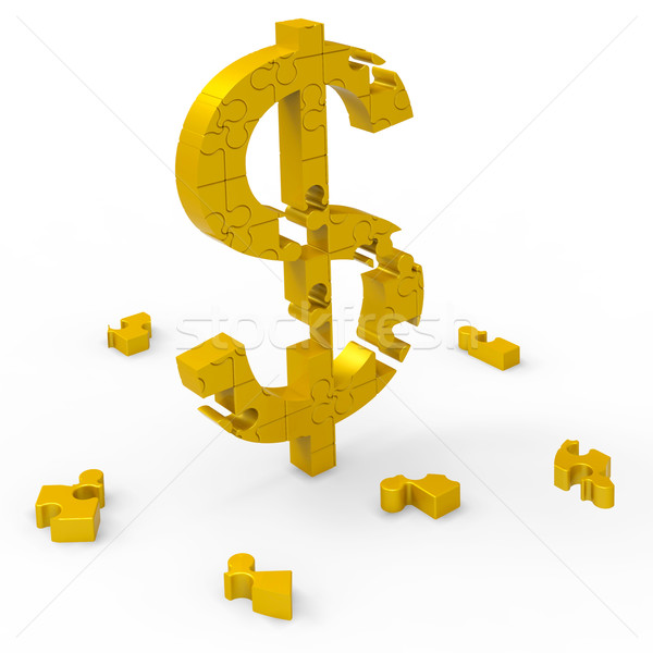 Dollar Symbol Means Bucks, Prosperity, Earnings Stock photo © stuartmiles