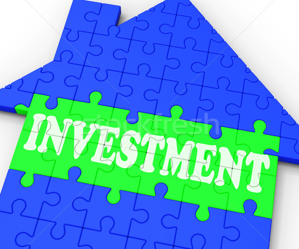 Investment House Means Investing In Real Estate Stock photo © stuartmiles