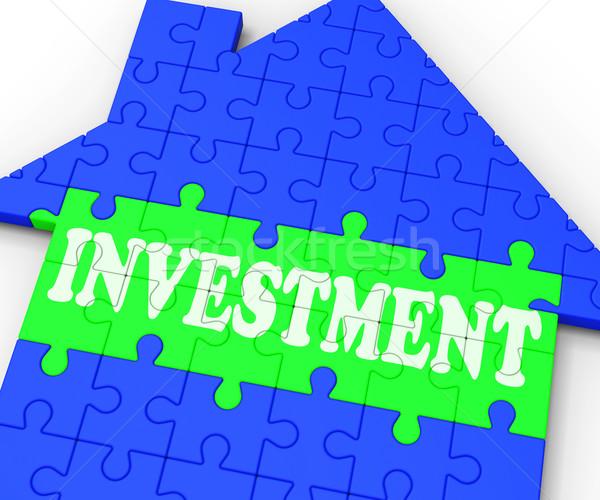 Beruházás ház befektetés ingatlan jelentés pénzügy Stock fotó © stuartmiles