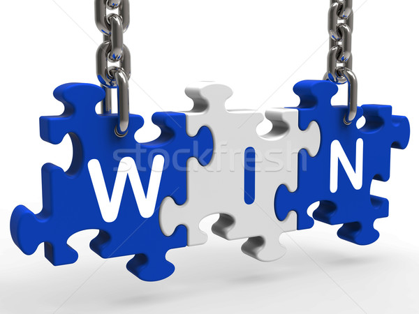 Win Sign Shows Success Winning And Victories Stock photo © stuartmiles