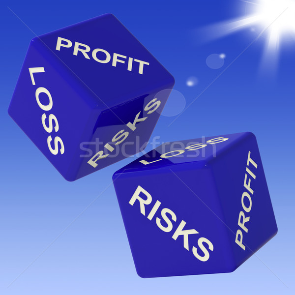 Profit, Loss, Risks Dice Showing Incomes  Stock photo © stuartmiles