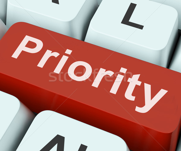 Priority Key Means Greater Importance Or Primacy Stock photo © stuartmiles