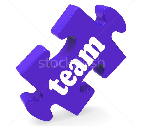 Team Puzzle Shows Together Community And Unity Stock photo © stuartmiles