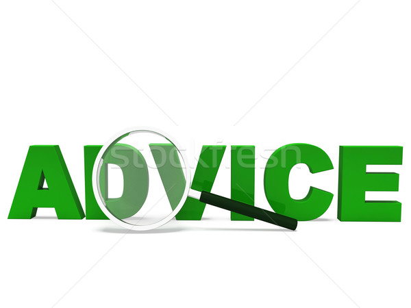 Advice Word Means Advising Advise Recommend Or Advised Stock photo © stuartmiles