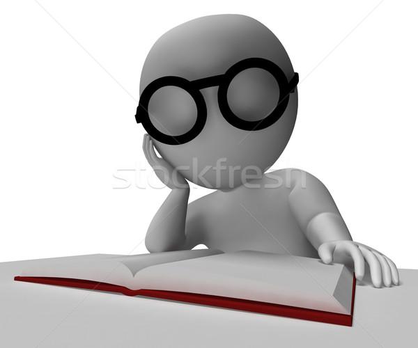 студент чтение книга исследований изучения школы Сток-фото © stuartmiles