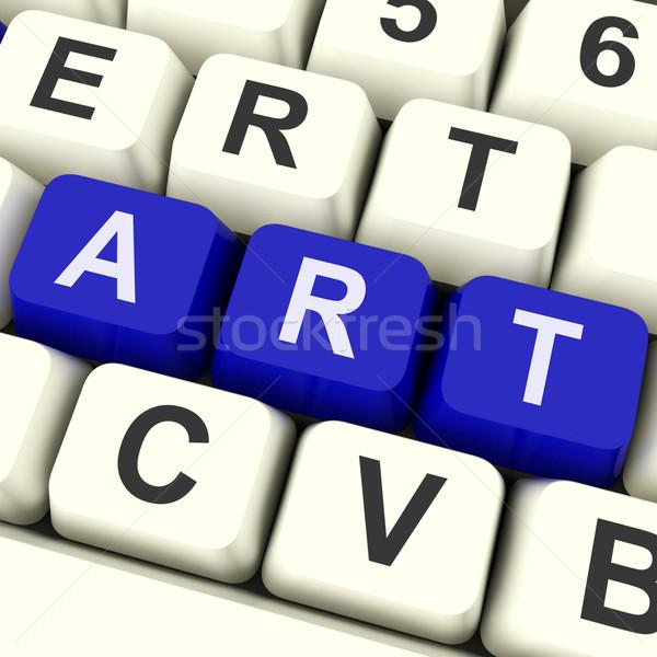 Sanat anahtar çizim boyama klavye artistik Stok fotoğraf © stuartmiles