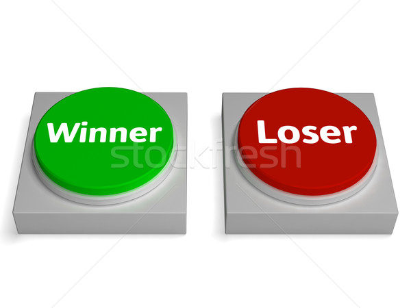 Winner Loser Buttons Show Gambling Or Betting Stock photo © stuartmiles