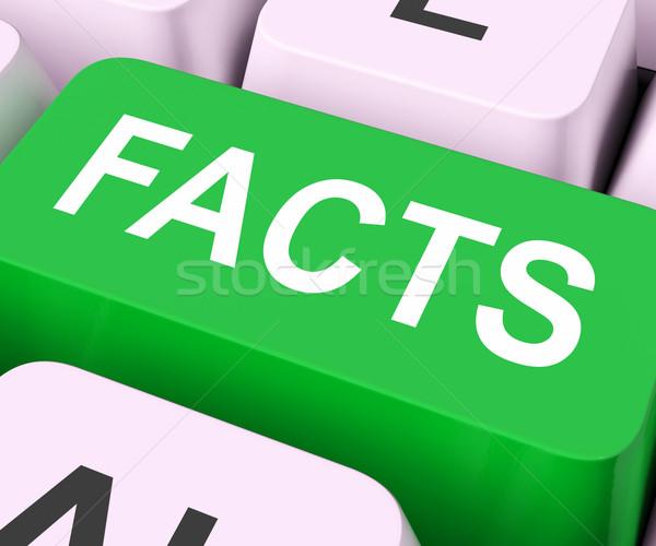 Tények kulcs információ adat mutat oktatás Stock fotó © stuartmiles
