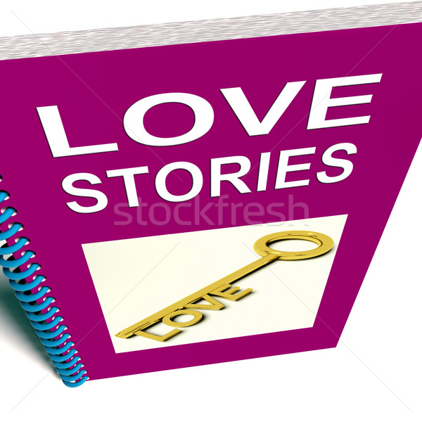 Love Stories Book Gives Tales of Romantic and loving Feelings Stock photo © stuartmiles