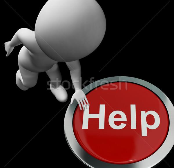 Pomoc przycisk pomoc wsparcie usługi znaczenie Zdjęcia stock © stuartmiles