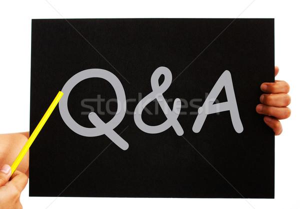 Lavagna domande risposte significato Foto d'archivio © stuartmiles