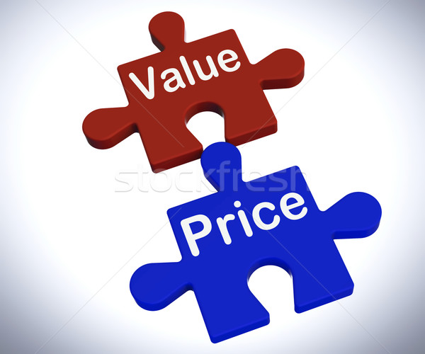 Value Price Puzzle Shows Worth And Cost Of Product Stock photo © stuartmiles