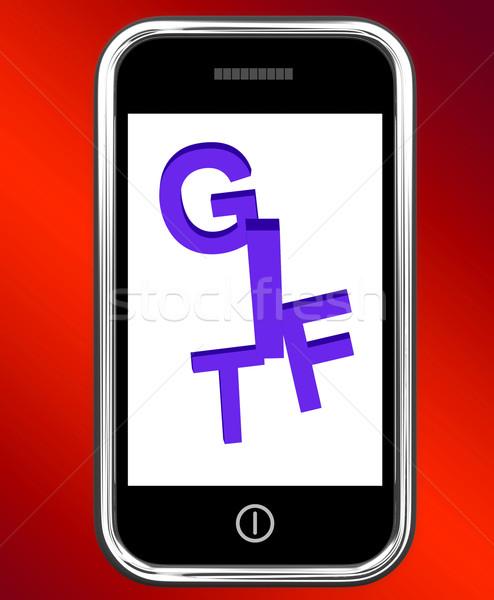 Prima teléfono extra regalo línea Foto stock © stuartmiles