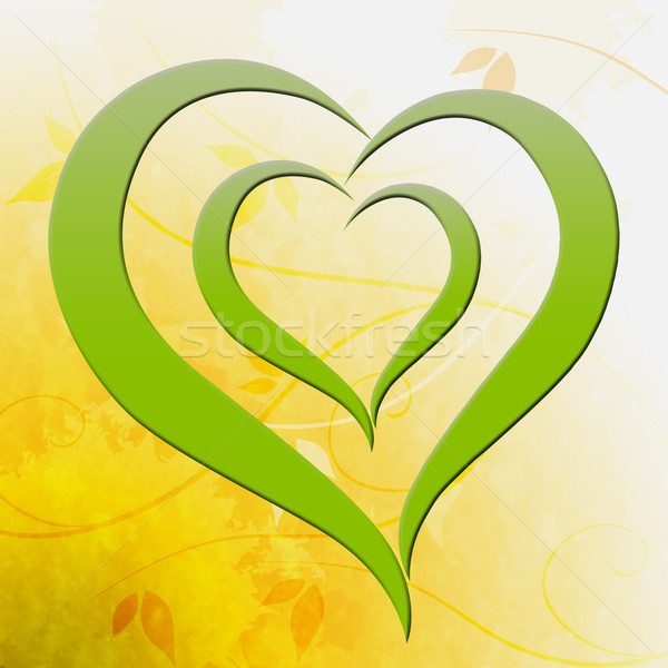 Green Heart Shows Environmental Care Or Eco Friendly Stock photo © stuartmiles