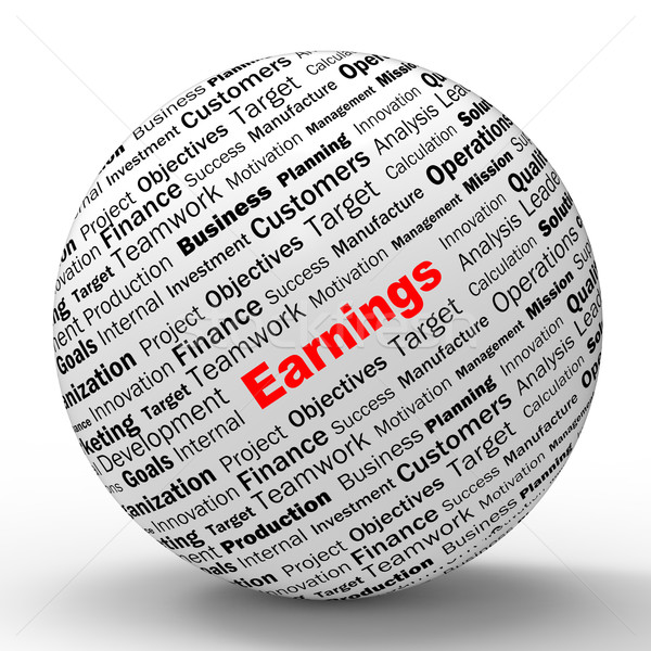 Earnings Sphere Definition Shows Lucrative Incomes Or Profits Stock photo © stuartmiles
