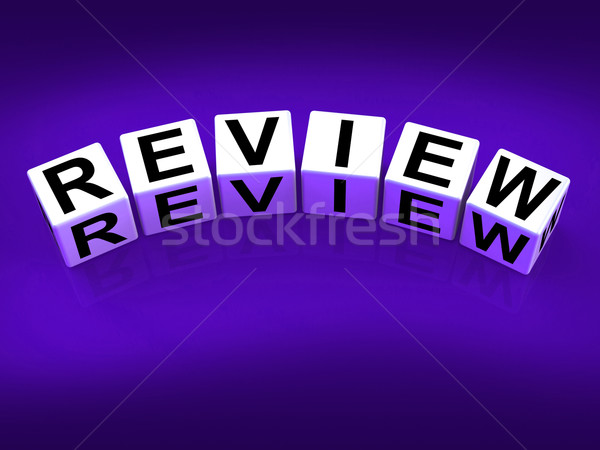 Review Blocks Mean Evaluating Assessing and Reviewing Stock photo © stuartmiles