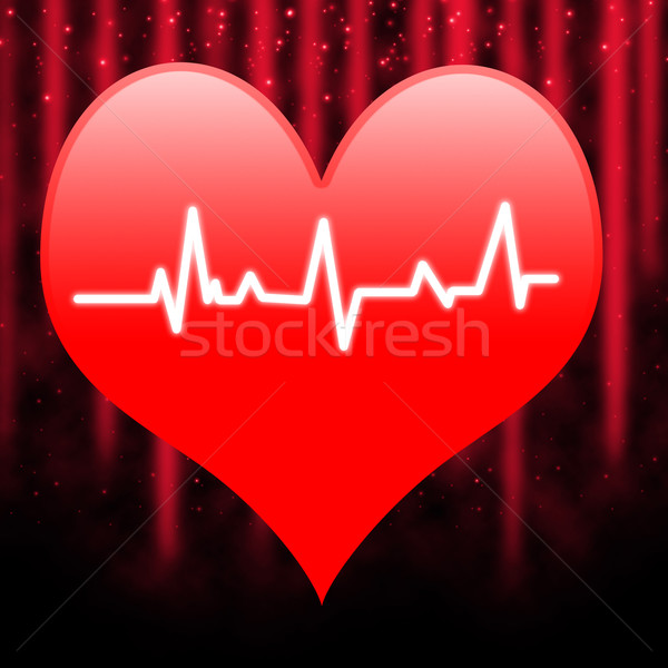 Electro On Heart Means Extreme Passion And Romance Stock photo © stuartmiles
