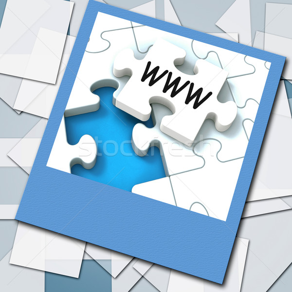 Www foto internet website netwerk betekenis Stockfoto © stuartmiles