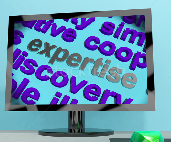 Expertise Word Screen Means Proficiency  Capabilities And Know-H Stock photo © stuartmiles