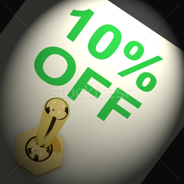 Switch Shows Sale Discount Of Ten Percent Off Stock photo © stuartmiles