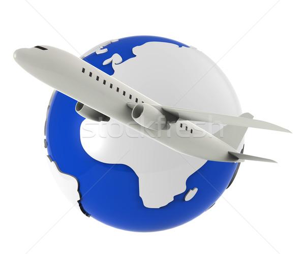 Worldwide Flights Represents Travel Plane And Airplane Stock photo © stuartmiles