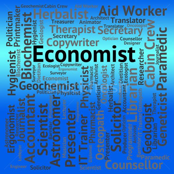 Trabajo macro ciencias económicas carrera trabajo Foto stock © stuartmiles
