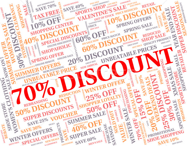 Seventy Percent Off Means Sales Save And Offers Stock photo © stuartmiles