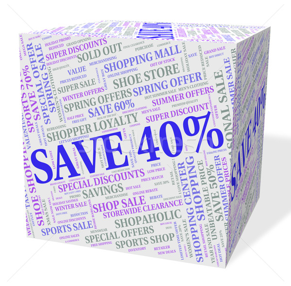Negyven százalék el szöveg árengedmény jelentés Stock fotó © stuartmiles