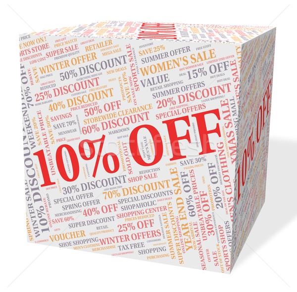 Ten Percent Off Represents Bargains Cheap And Sales Stock photo © stuartmiles
