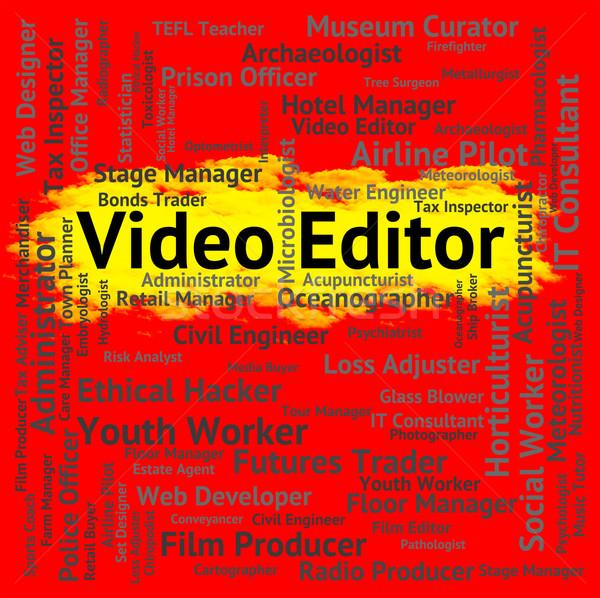 Vídeo editor filme cinematográfico movimento fotos filmes Foto stock © stuartmiles