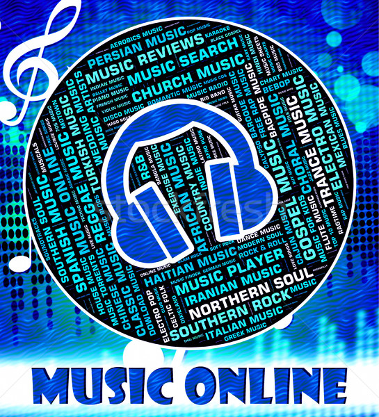 Music Online Indicates World Wide Web And Acoustic Stock photo © stuartmiles