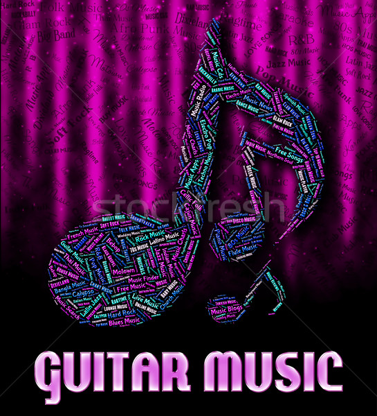 Guitar Music Represents Sound Tracks And Acoustic Stock photo © stuartmiles