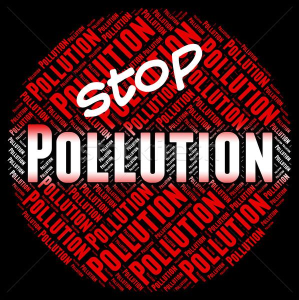 остановки загрязнения воздуха опасность контроль Сток-фото © stuartmiles