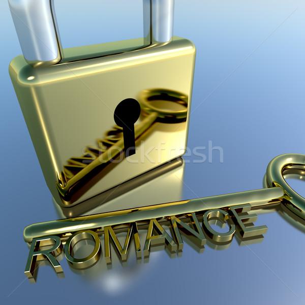Lakat románc kulcs mutat szeretet valentin nap Stock fotó © stuartmiles
