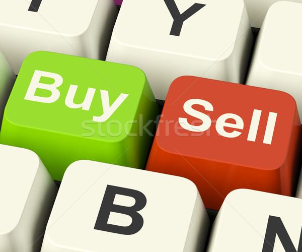 Buy And Sell Keys Representing Business Trade Or Stocks Online Stock photo © stuartmiles