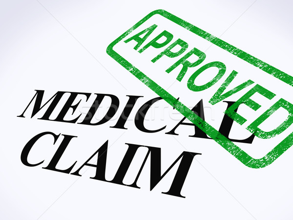 Medical Claim Approved Stamp Shows Successful Medical Reimbursem Stock photo © stuartmiles