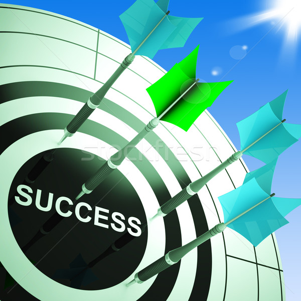 Success On Dartboard Showing Accomplished Progress Stock photo © stuartmiles