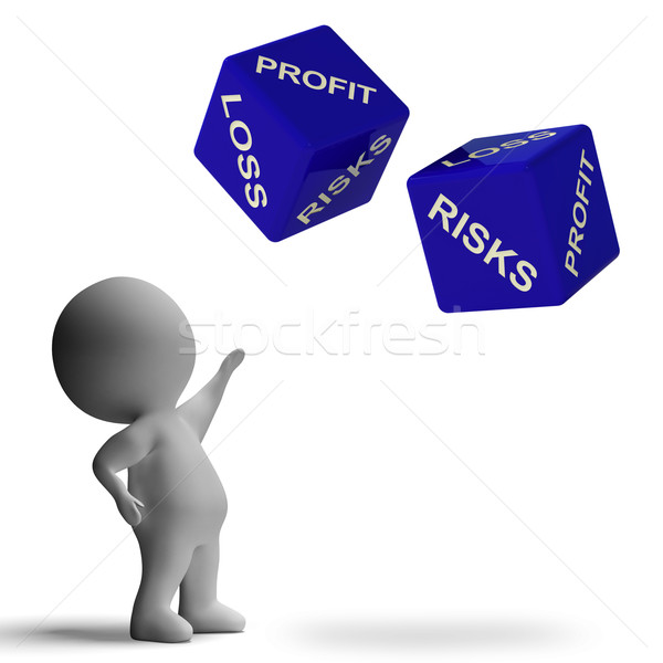 Profit Or Loss Dice Showing Returns For Business Stock photo © stuartmiles