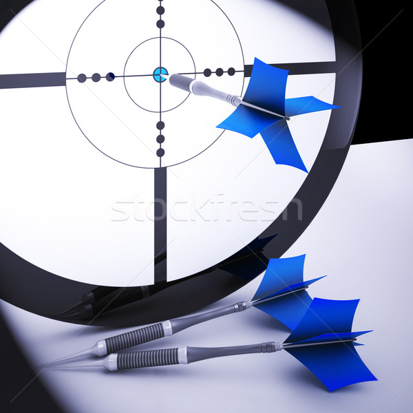 Dart Target Means Perfect Skill Winning Performance Stock photo © stuartmiles