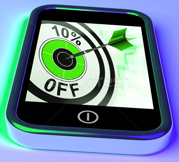 10 Percent Off On Smartphone Shows Sales Stock photo © stuartmiles
