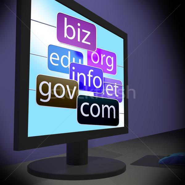 Stockfoto: Tonen · websites · onderwijs · netwerk · web · scherm