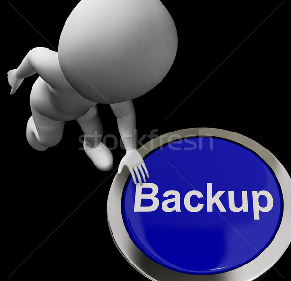 Backup Button For Archives And Data Storing Stock photo © stuartmiles