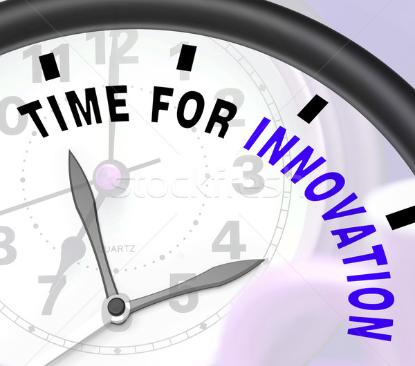 Time For Innovation Shows Creative Development And Ingenuity Stock photo © stuartmiles