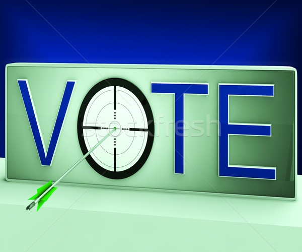 Vote Target Means Evaluation Poll Election Stock photo © stuartmiles