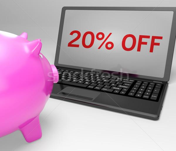 двадцать процент ноутбук продажи ноутбука Сток-фото © stuartmiles