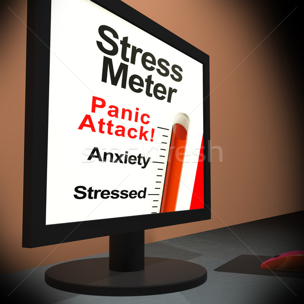 Stress Meter On Laptop Showing Panic Attack Stock photo © stuartmiles